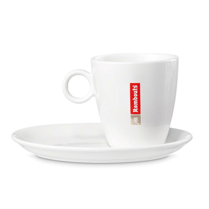 Rombouts porselein Cappuccino 4st