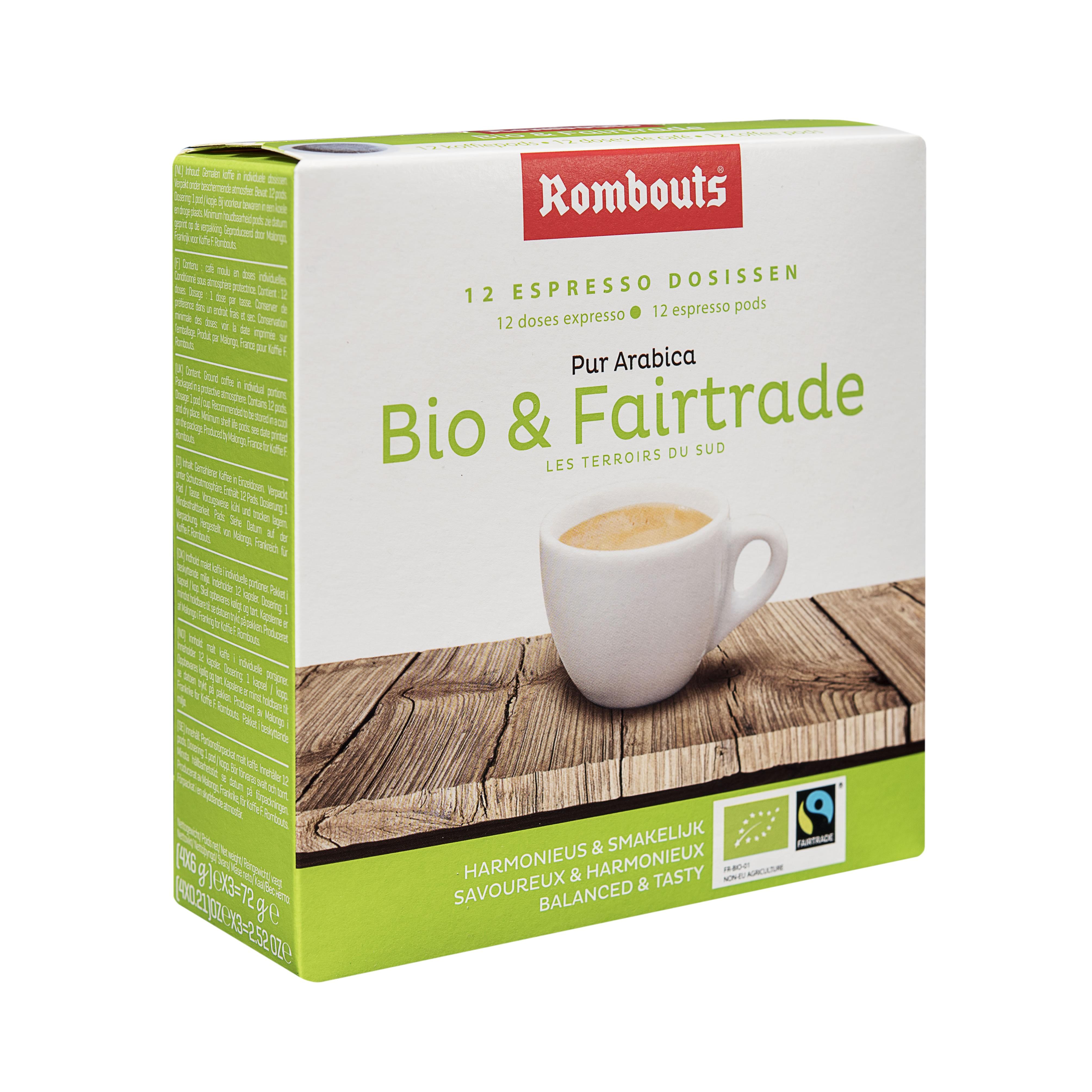 Bio & Fairtrade pods 12pcs