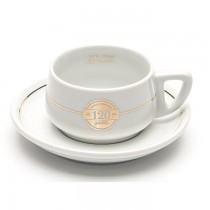 120 Years Cups & Saucers x 6