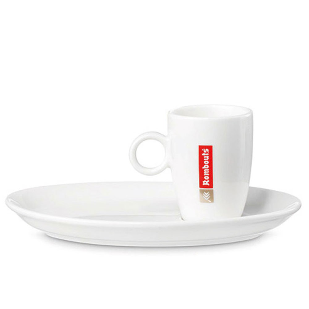 Rombouts 2oz Cups & Saucers