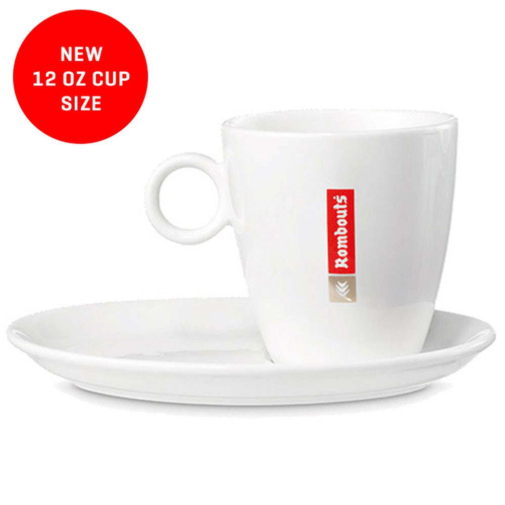 Rombouts 12oz Cups & Saucers