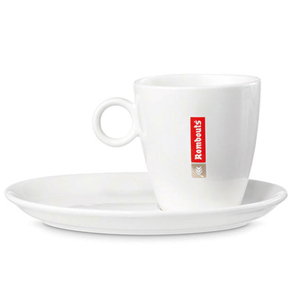 Rombouts 9oz Cups & Saucers