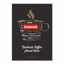 'Coffee Words' A2 Poster
