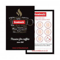 Rombouts 'Coffee Words' Loyalty Cards