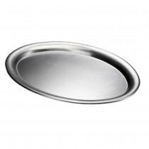 Oval Stainless Steel Serving Trays